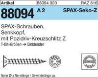 ABC SPAX S Screw 6 mm x 100/60 mm