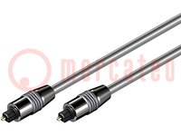 Cable; Toslink enchufe, ambos lados; 0,5m; Diám.de cable:6mm