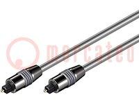 Kábel; Toslink dugó, kétoldalas; 0,5m; Vezet.átm:6mm