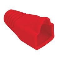 Knickschutztülle rot, für RJ-45, 10 Stck