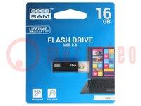 Pendrive; USB 2.0; 16GB; Lezen:20MB/s; Schrijven:5MB/s
