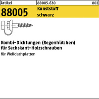 ART 88005 Kunststoff Kombi-Dichtungen ZK schwarz VE=S (100 Stück)