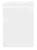 Schreibplatte A4 aus Polystyrol, Klemme an kurzer Seite, weiß