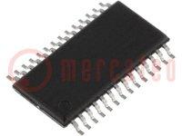 Microcontrolador MSP430; SRAM:512B; Flash:16kB; 16MHz; TSSOP28