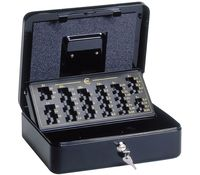 Cash Box with EUR Coin Counter Tray, 30 x 24,5 x 9,3 cm