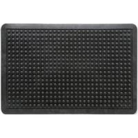 Floortex Mat Rubber Anti Fatigue Textured Anti Slip Bevelled Edge 610x910mm Bubble Pattern