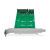 Draufsicht - Konverter-Board SATA zu 2x M.2 SATA mit PCI Bracket zur Befestigung IB-CVB512-S