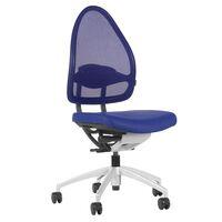 Efektowne obrotowe krzesło biurowe, z oparciem siatkowym