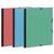 EXACOMPTA Carton à dessin à élastique 280x380mm pour format B4 papier à grain couleurs assorties