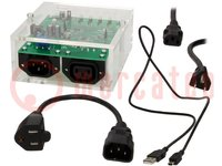 Dev.kit: Microchip; Application: electric energy meter