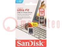 Pendrive; USB 3.0; ULTRA FIT; 128GB; 130MB/s