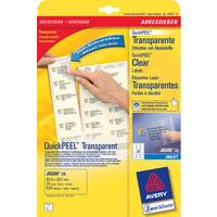 Etikett, Címke, Tintasugaras nyomtatóhoz, 63,5 x 38,1 mm, átlátszó