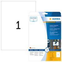 selbstklebend Polyester Folienetiketten A4 Bogen 100 mm rund weiß 125 Stk.