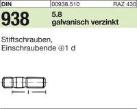 DIN938 5.8 galZn M10x20