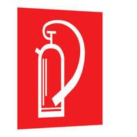 Feuerlöschgerät Fahnenschild, Alu, langnachleuchtend, Safety Marking, 2,5x20x20,5cm BGV A8 F05