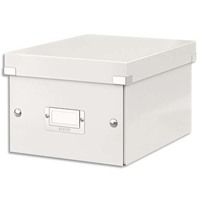 LEITZ Boîte CLICK&STORE S-Box. Format A5 - Dimensions : L216xH160xP282mm. Coloris blanc.