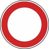 Modellbeispiel: VZ Nr. 250, (Verbot für Fahrzeuge aller Art)