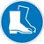 Modellbeispiel: Gebotsschild, Fußschutz benutzen (Art. 21.0488)