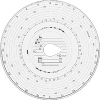 100 Original HAUG Diagrammscheiben 180 100 (180 km/h Automatik)