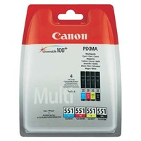 Canon originál ink 6509B009, CLI551, CMYK, blister, Canon PIXMA iP7250, MG5450, MG6350, MG7550