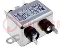 Filter: onderdrukkend; 250VAC; Inom max:10A; Ir:0,36mA