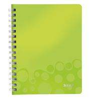 Collegeblock WOW, A5, PP, liniert, holzfrei, 80 Blatt, grün metallic