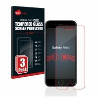 3x Savvies® Xtreme Glass HD33 Panzerglasfolie für Apple iPhone 7
