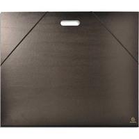 EXACOMPTA Carton à dessin noir avec poignée et élastique 59 x 72 cm