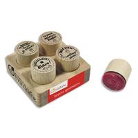 AVENUE MANDARINE Set de 4 tampons en bois Appréciations