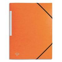 5 ETOILES Chemise 3 rabats monobloc � �lastique en carte lustr�e 5/10e, 390g. Coloris orange.