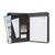 5 ETOILES Conférencier CLASSIC PVC noir. Divers rangements, porte-stylos, porte-bloc. Avec 1 bloc