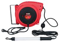 Kabelaufroller mit Profi-Werkstatt-Stabhandlampe 8 Watt