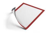 DURABLE Info-Rahmen DURAFRAME® MAGNETIC A4, Magnetrahmen für metallische Oberflächen, Btl. à 5 Stück, rot