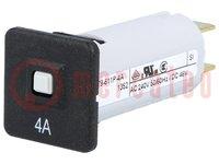 Installatieautomaat; 240VAC; 48VDC; 4A; Cont: SPST; II.polen:1