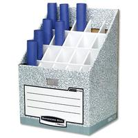 Bankers Box by Fellowes System Roll Stor Stand for Rolled Documents Grey-White Ref 01832
