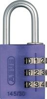 Kombinationsschloss Serie 145 145/30 Alu B.30mm Farbe lila