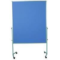 Legamaster Moderationswand mit Rollen blaugrau 120 x 150 cm m. Filz