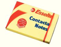 Haftnotiz Contacta-Notes, 75x50mm, 100 Blatt, gelb