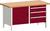 Produktbild - cubio Kastenwerkbank mit 3 Schubladen Türe, Ablage, Rotbuche-Arbeitsplatte