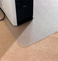 Floortex Chair Mat PVC for Carpet Protection Anti Static with Lip 1200x900mm