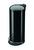 Tret-Abfallsammler, Hailo ProfiLine Solid Design L, tiefschwarz, 24 Liter, Inneneimer: verzinkt Bild 1