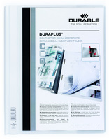 Durable Duraplus Report Folder Extra Wide A4 White (Pack 25) 257902