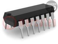 Mikrokontrolér AVR; EEPROM:128B; SRAM:128B; Flash:2kB; DIP14