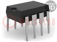 Amplificador operativo; 4,5MHz; Canales:2; DIP8