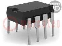 PIC mikrokontroller; Memória:3,5kB; SRAM:128B; EEPROM:256B; THT