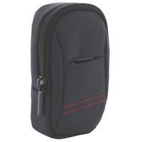 XiRRiX Kamera / Kompaktkamera Tasche aus Polyester - extra Fach - Innen 115 x 66 x 36 mm - schwarz
