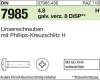 Linsenschrauben M5x8-H