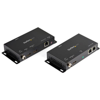 StarTech.com HDMI over IP Extender 1080p 60Hz HDMI Video over P2P Cat5e/Cat6 Ethernet Verbinding of LAN Netwerk Switch Zender/Ontvanger Kit Tot 150m