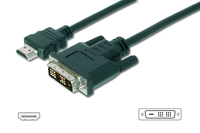 HDMI adapter cable. type A-DVI(18+1) M/M. 3.0m. Full HD.