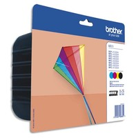BROTHER Pack 4 couleurs Jet d'encre LC223VALBP
